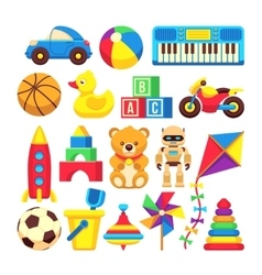 Cartoon children toys icons isolated on vector image vector image
