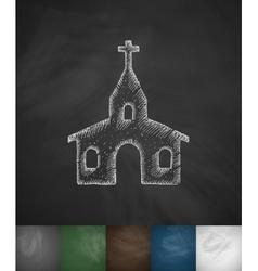 Church icon hand drawn vector