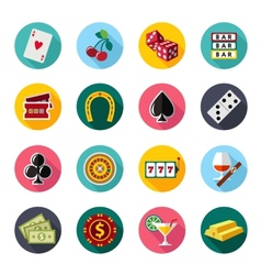 Colorful flat icons set Quality design vector image vector image