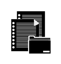 documents and file folder icon vector image vector image