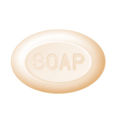Ellipse bar of soap isolated on white easy vector