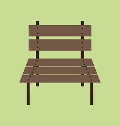 Garden Bench Icon vector image vector image
