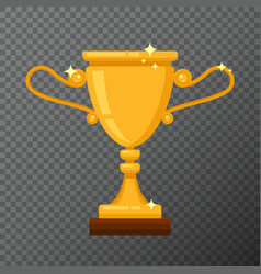 golden trophy icon isolated on background vector image