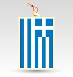 greek made in tag vector image vector image