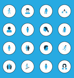 human colorful icons set collection of clever vector image vector image