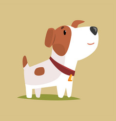 jack russell puppy character cute funny terrier vector image