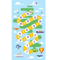 Kids world tour board game vector