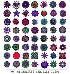 Mandalas50 vector image vector image