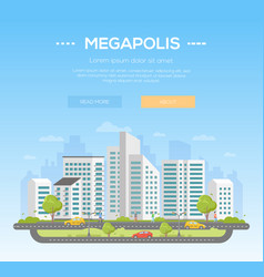 Megapolis - modern vector
