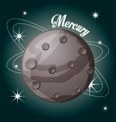 Mercury planet in the solar system creation vector