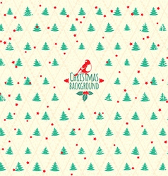 Merry Christmas festive background Christmas tree vector image