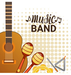 music band instruments set banner musical concert vector image