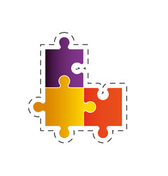 puzzle solution strategy image vector image vector image