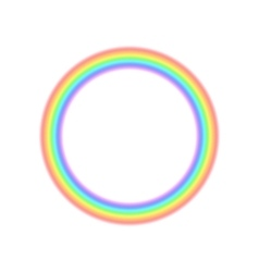 Radial rainbow icon in realistic style vector