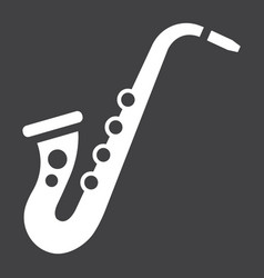 saxophone glyph icon music and instrument vector image vector image