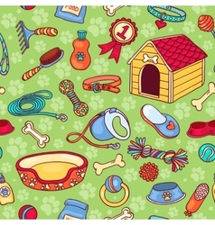 Seamless pattern with accessories for dogs vector image vector image