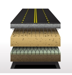 Section of asphalt road vector