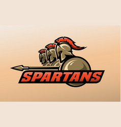 spartan warriors logo symbol vector image