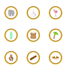 sri lanka icons set cartoon style vector image vector image