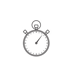 stopwatch line icon timer for apps vector image