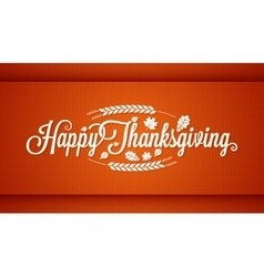 Thanksgiving vintage card lettering background vector