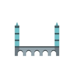 Tower bridge icon in flat style vector