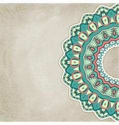 Vintage ornamental floral template vector image vector image