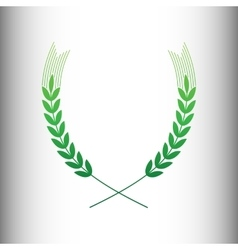 Wheat sign green gradient icon vector