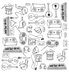Doodle of music tools variation vector