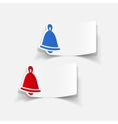 Realistic design element christmas bell vector