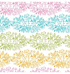 Dream floral damask seamless pattern background vector image