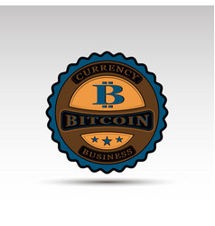 Badge with bitcoin symbol vector