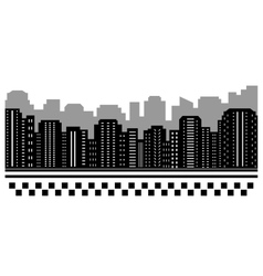 Black urban background for taxi vector
