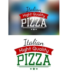 Italian pizza label or banner vector