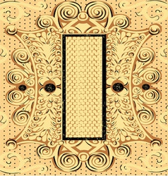 Background antique ornament vector