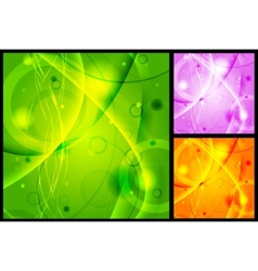 vibrant backgrounds vector image