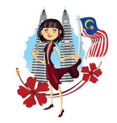 Tourism in malaysia truly asia vector