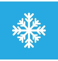 Flat icon on stylish background winter snowflake vector