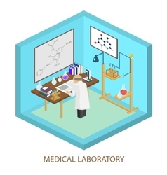 Medical laboratory scientist isometric flat vector