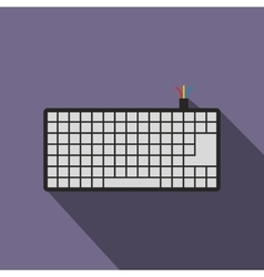 Computer keyboard icon flat style vector