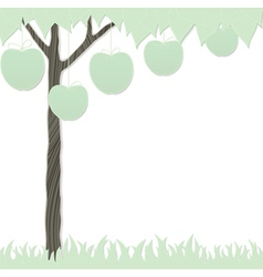 Cutout tree white vector