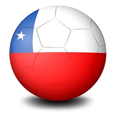 A soccer ball with the flag of Chile vector image vector image