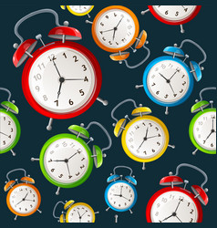 Alarm clock pattern background vector