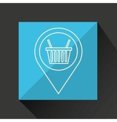 Basket shopping discount marketing icon vector