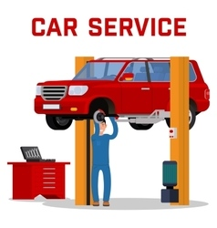 Car services - maintenance repair and diagnostics vector