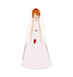 cartoon bride icon image vector image