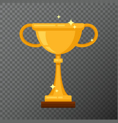 champion golden cup isolated on background vector image