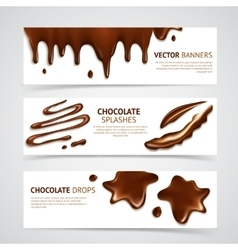 Chocolate banners set vector