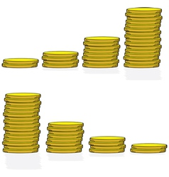 coin graphs vector image vector image