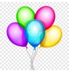 Colorful balloons birthday decoration vector